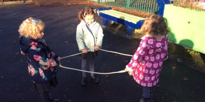 Making Shapes Outdoors