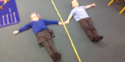 Learning all about symmetry in Reception!
