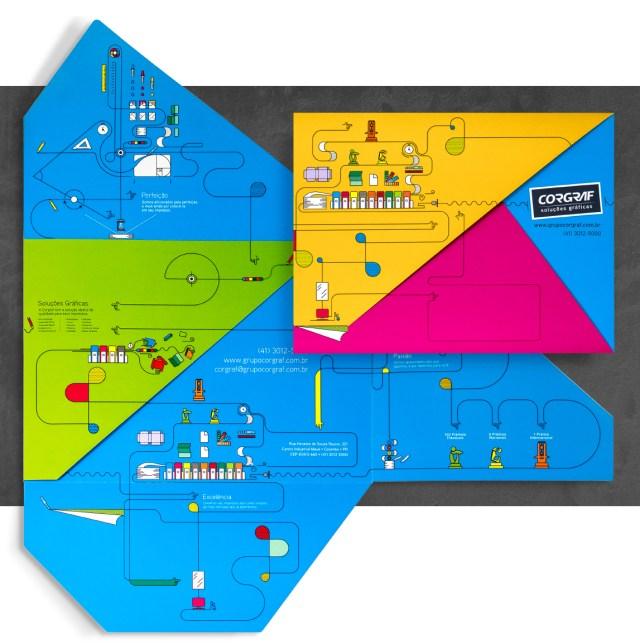 Pontodesign - Papelaria Corgraf Cartão Envelope Tangram