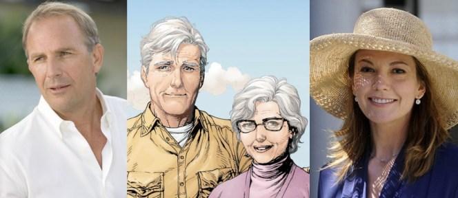 O casal Kent, versão filme e versão Hq