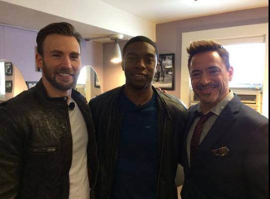 Evans, Boseman e Downey Jr.