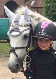 Our Sponsored Pony Sophisticated Lady in her AmazBling Colour Pro Crystal Browband