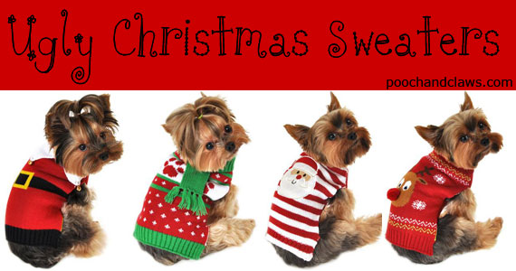 Ugly Christmas sweater for dogs 4 cute holiday outfits for your pooch