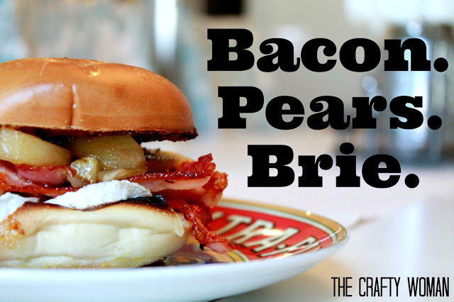 Caramelized Pears Bacon & Brie from The Crafty Woman