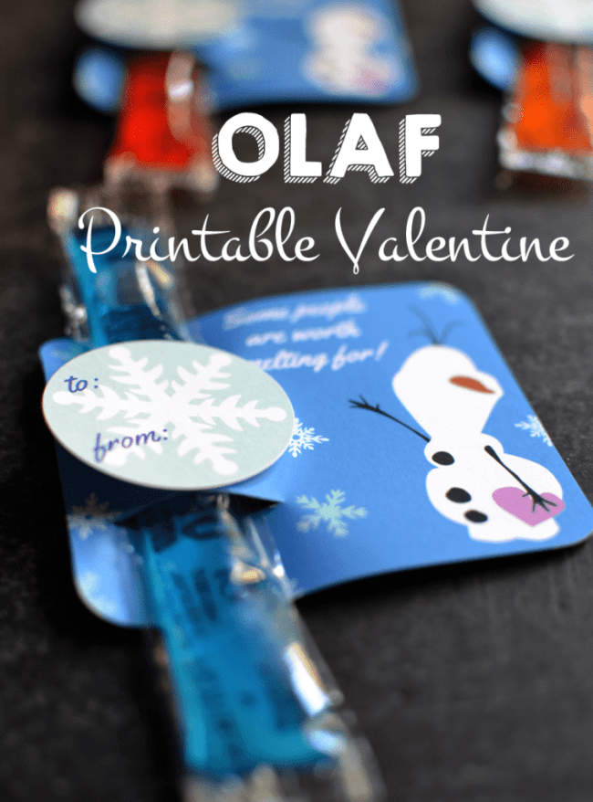 Frozen Olaf Valentine Card from www.poofycheeks.com