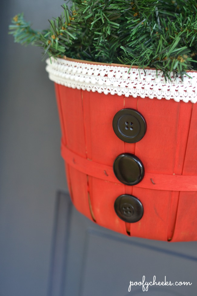 DIY Santa Basket Decoration - Quick and Easy with only 2 Steps!