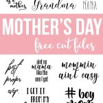 Mother's Day Free Cut Files – DXF and SVG for Silhouette and Cameo