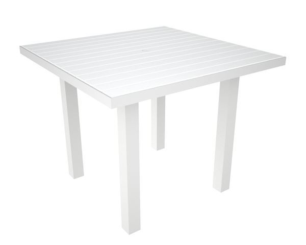 dining table 36 inch square recycled plastic aluminum pool furniture supply