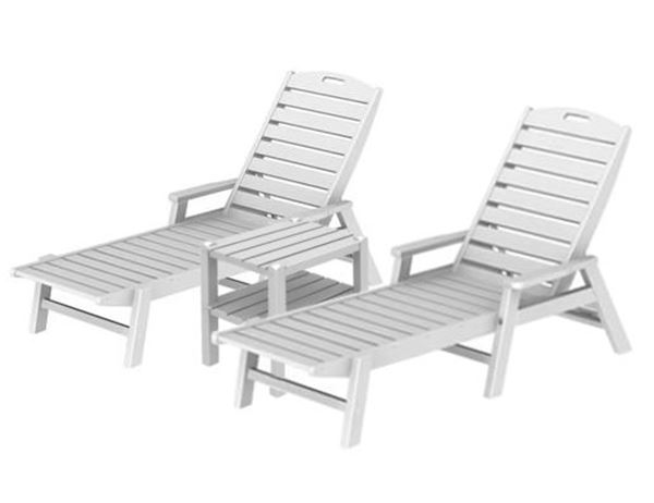 chaise lounge set recycled plastic two shelf square side pool furniture supply
