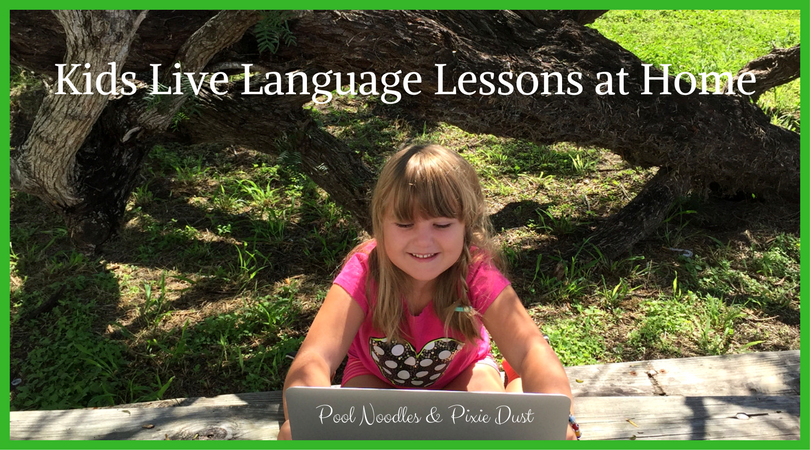 Kids Live Language Learning at Home - Pool Noodles & Pixie Dust