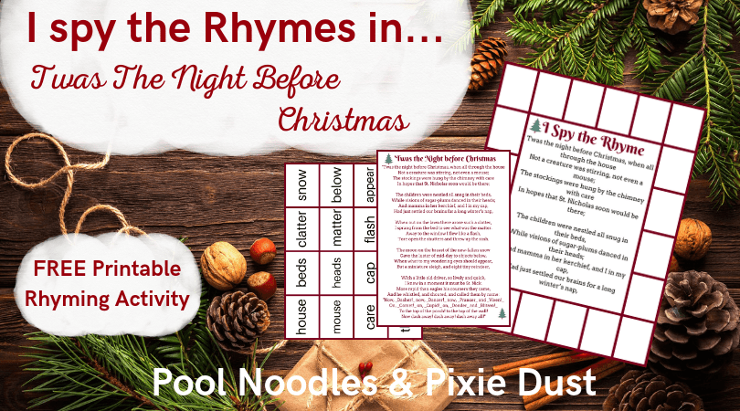photograph relating to Twas the Night Before Jesus Came Printable named I Spy the Rhymes inside Twas the Evening Right before Xmas - Pool