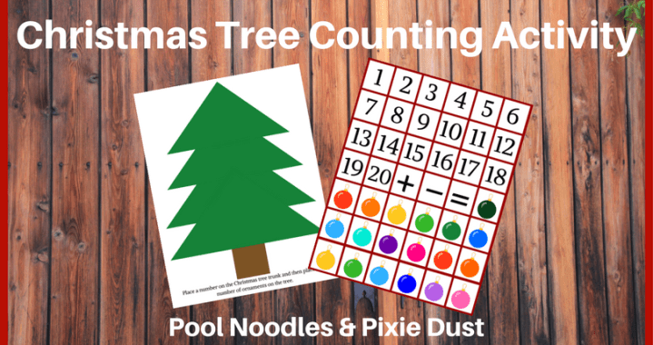 Christmas Tree Counting Activity - Pool Noodles & Pixie Dust