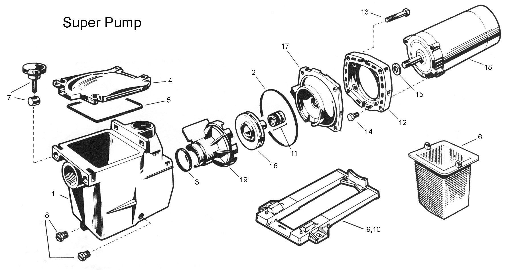 Hayward Pool Pump Motor Parts Diagram
