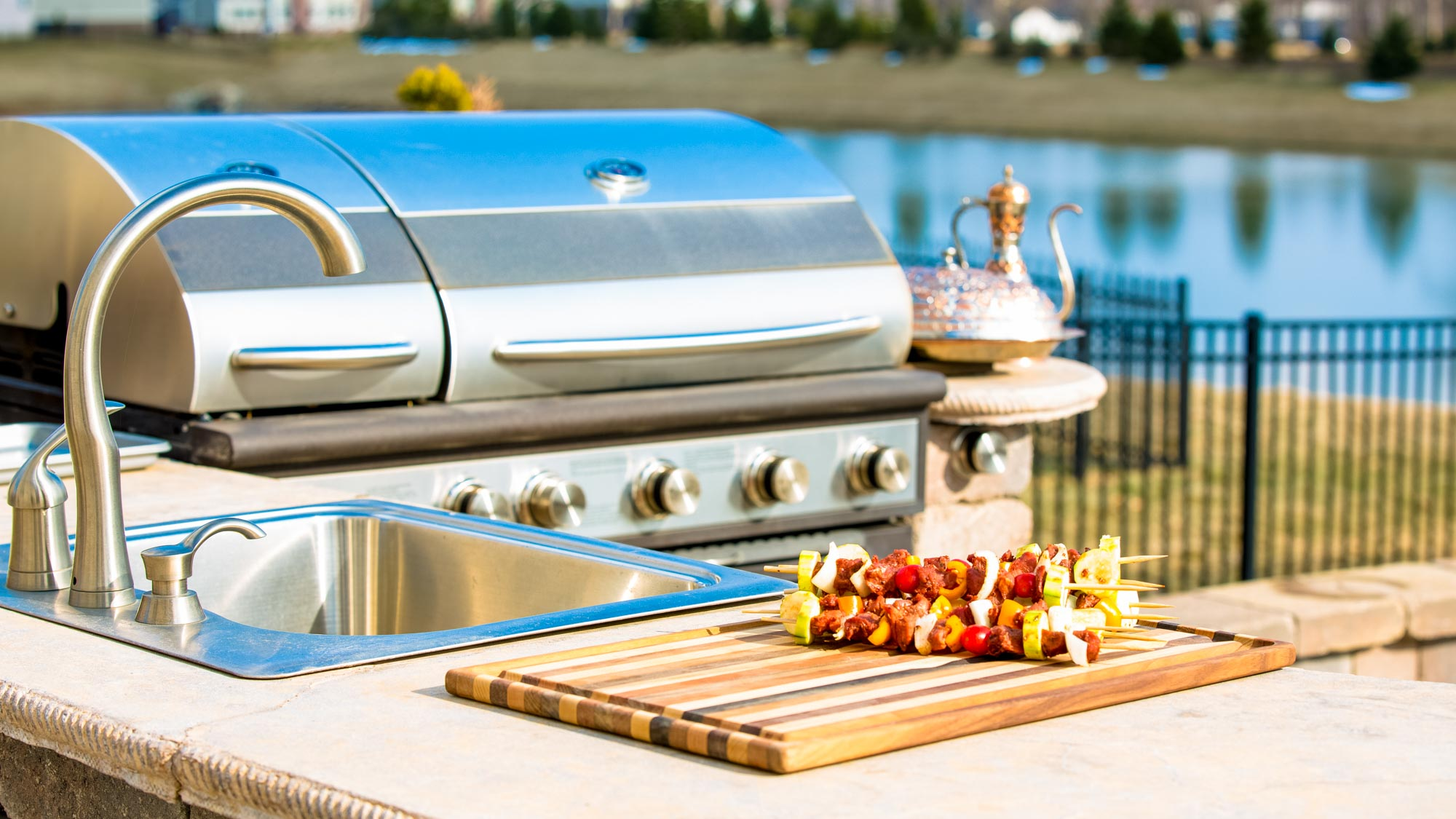 Outdoor Kitchens | Poolside Designs on Outdoor Kitchen With Pool Ideas id=22893