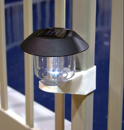 Solar Fence Light W Brackets 4 Pack Poolsupplies Com