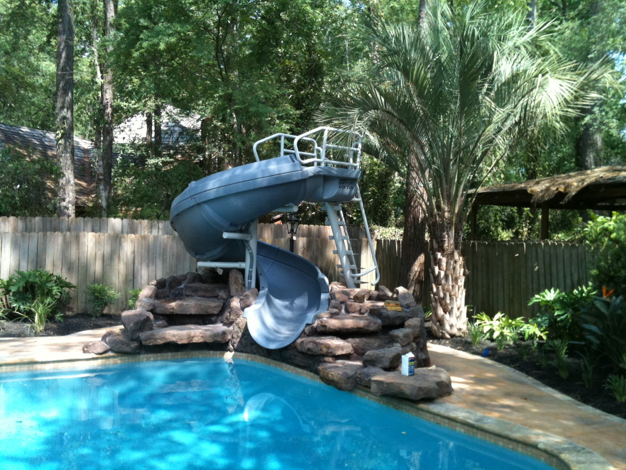 Vortex Inground Pool Slide Closed Flume And Staircase Blue Pool Supplies Canada