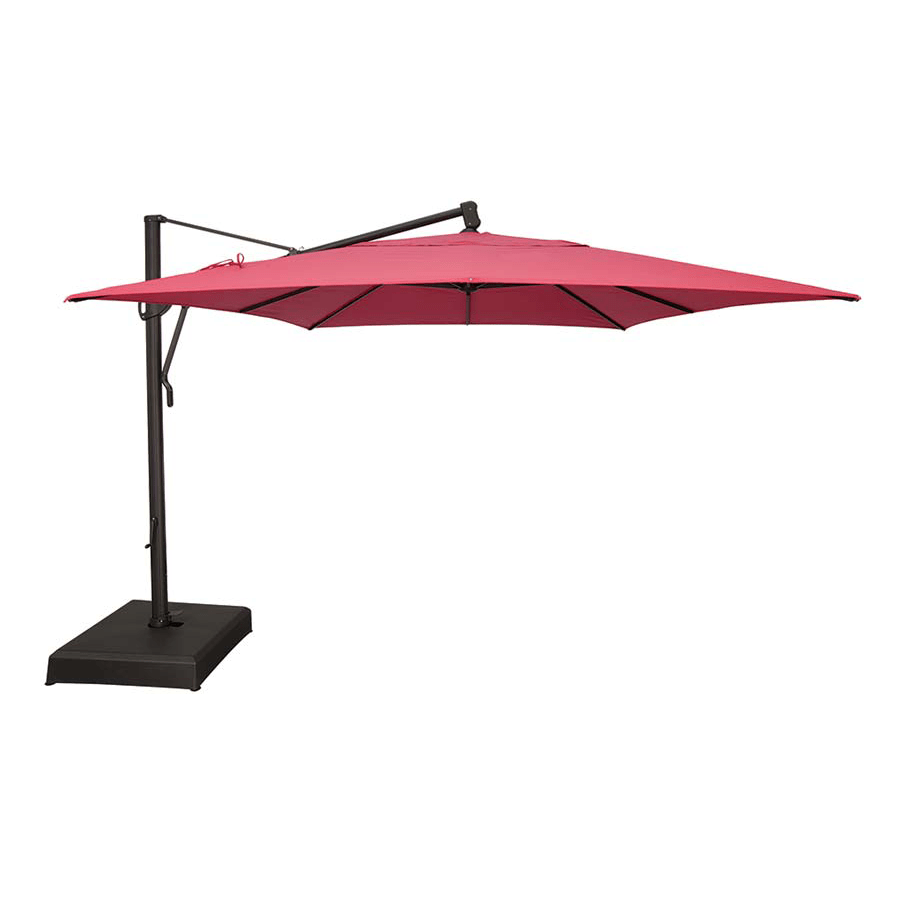 10 x 13 ft rectangle akz plus cantilever umbrella black cobalt