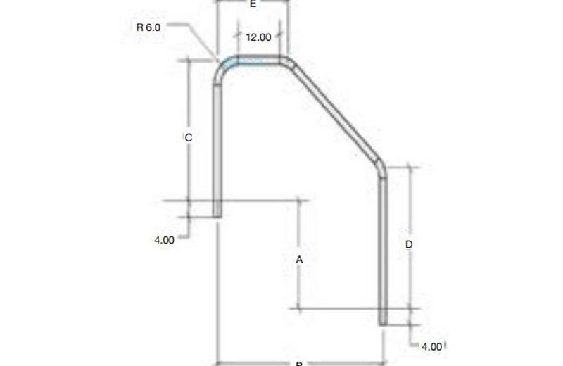 S R Smith 6 5 Handrail 3 Bend Ada Stainless Steel 065 3Hr   Sr Smith Handrail Brochure   Ada   Stair Rails   Deck Mounted   Mer 1004   Art 1004