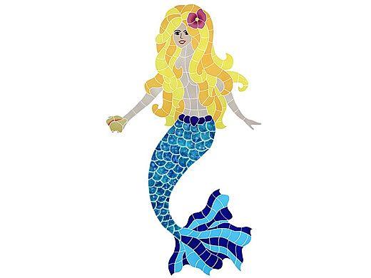 artistry in mosaics polynesian mermaid mosaic blonde 46 x 23 mpoblool