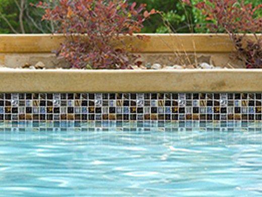national pool tile santorini series 1x1 glass tile umbria black san black