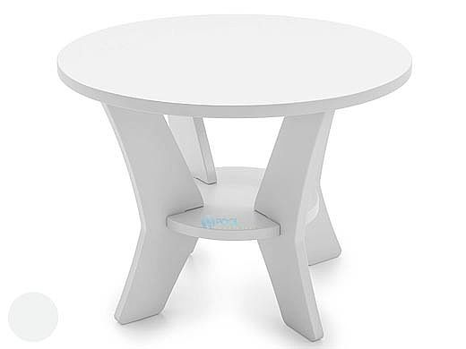 ledge lounger mainstay collection round outdoor side table white ll ms st rd wh