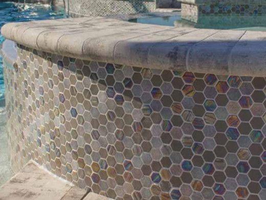 national pool tile starburst mosaic glass tile smoke gray sta smoke