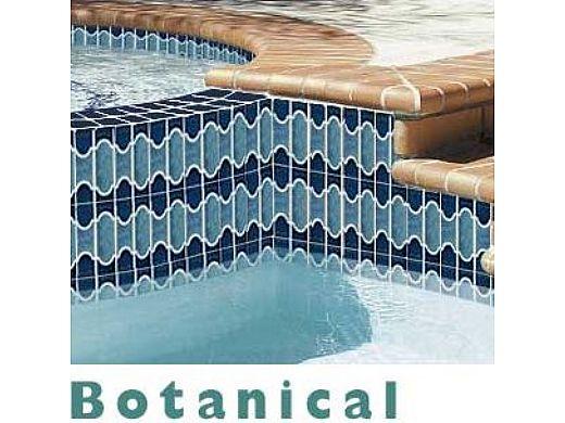 national pool tile botanical series pool tile navy blue bue40