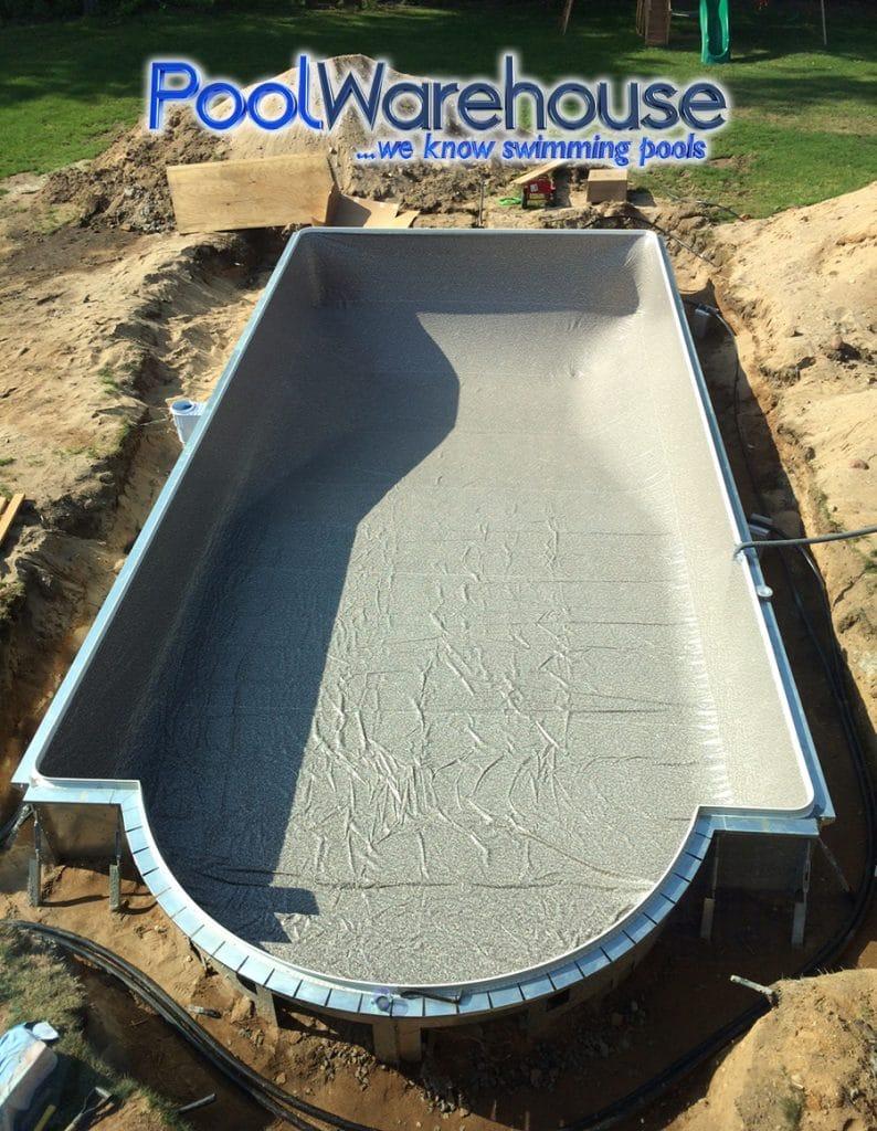 Roman End Steel Swimming Pool Kit Installation Pool Warehouse