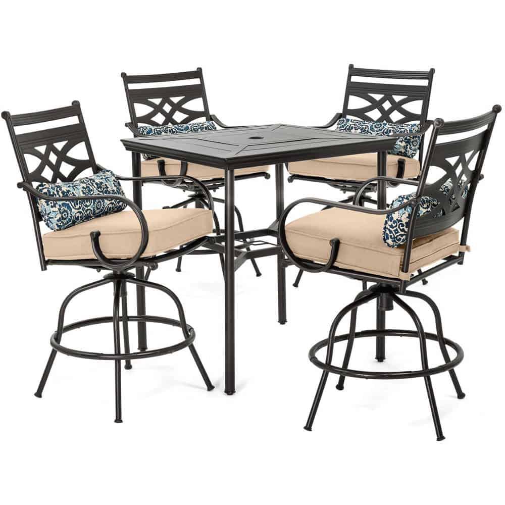 montclair 5 piece high dining set