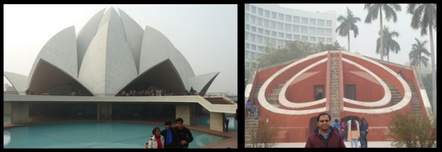 Lotus Temple & Jantar Mantar