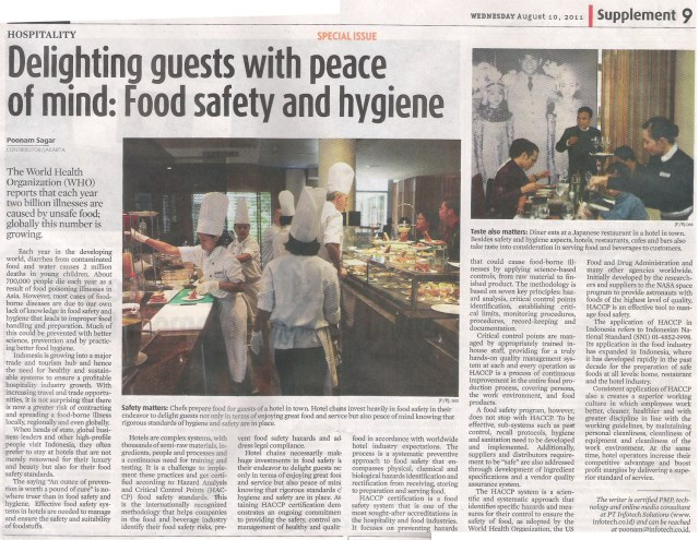 Delighting Guests with Peace of Mind: Food Safety & Hygiene