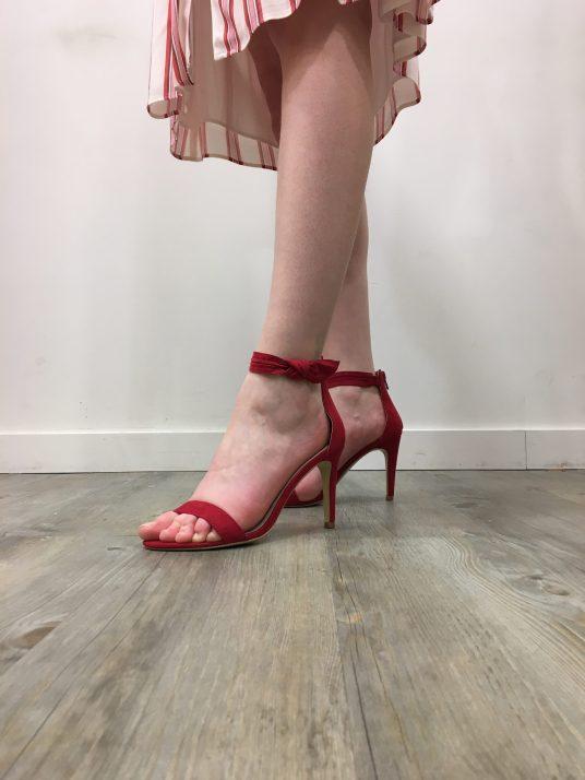 Sandales rouges NAF NAF
