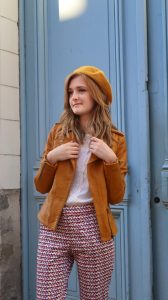 Veste en cuir moutarde shop my style