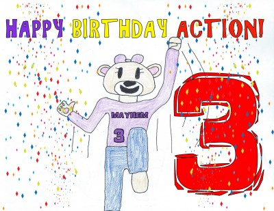 HAPPY BIRTHDAY ACTION!