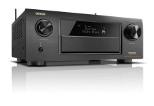 Front view of Denon's new AVR-X6300H network receiver with built-in support for HEOS