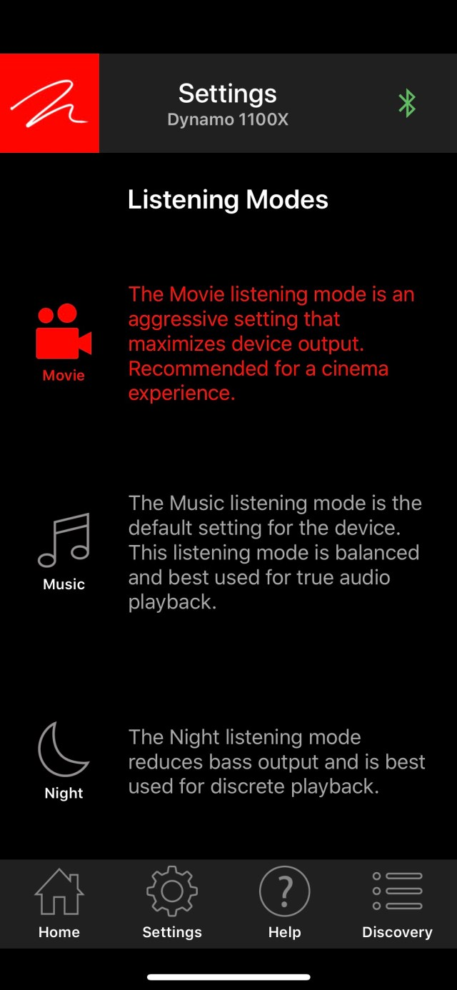 You can configure the Dynamo 1100X for different modes through the app.