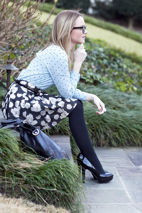 Mixing Prints For Winter Floral Mini Skirt Under 100