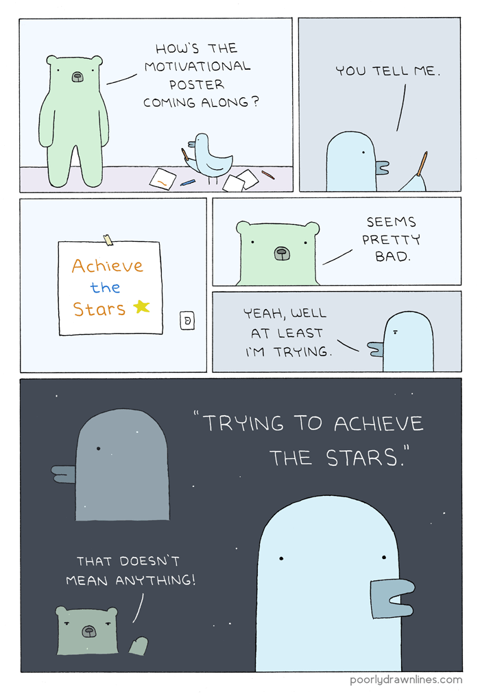 Image result for poorly drawn lines motivation