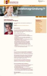 Interview bpw Akademie_Angela Wosylus_Existenzgründung_12/2015