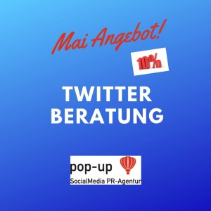 Mai Angebot pop-up SocialMedia PR-Agentur