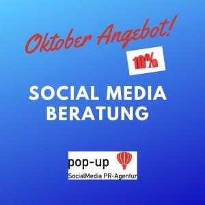 Oktober Angebot pop-up SocialMedia PR-Agentur