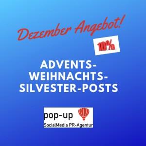 Dezember Angebot pop-up SocialMedia PR-Agentur