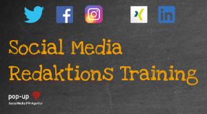 Social Media Redaktions Training pop-up SocialMedia PR-Agentur CONTENT IS KING