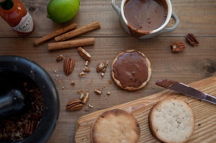 Sablés noix de pécan et chocolat