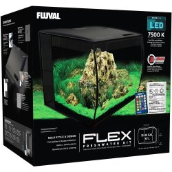 Flex Aquarium Kit, 15 US Gal (57 L), Black