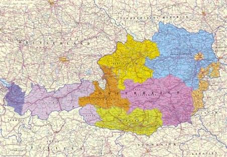 Political Map of Austria - Map of Austria, Europe