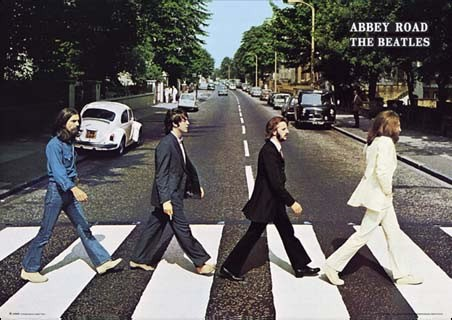 the cover of the classic Beatles 'Abbey Road' album