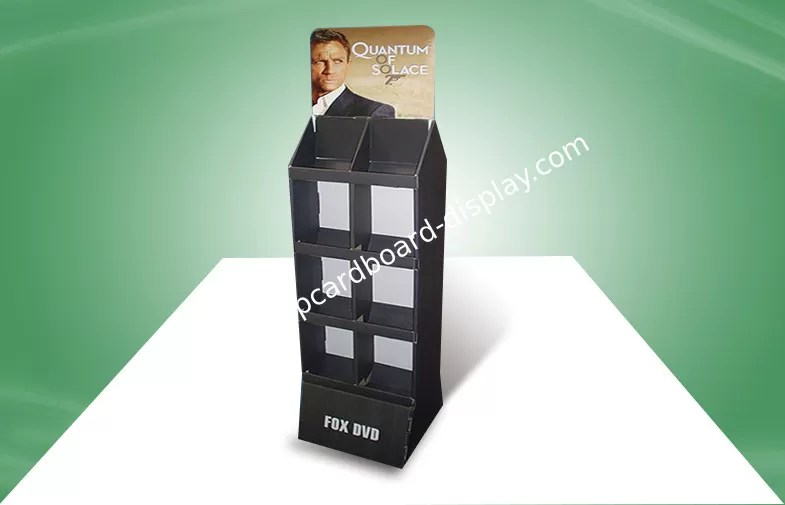 foldable trade show cardboard free standing display units for cd dvd books