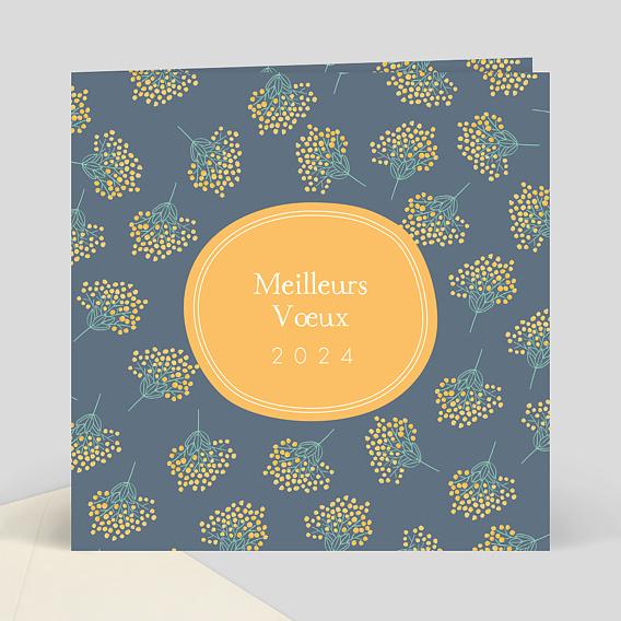 Carte De Voeux Mimosa Popcarte