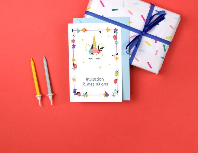 invitation anniversaire enfant popcarte